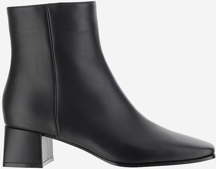 Black Smooth Leather Ankle Boots - Gianvito Rossi