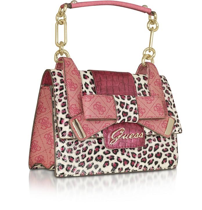 Guess Pink Laurita - Top Zip Animal Print Bag at FORZIERI Australia eff3fa97128bb