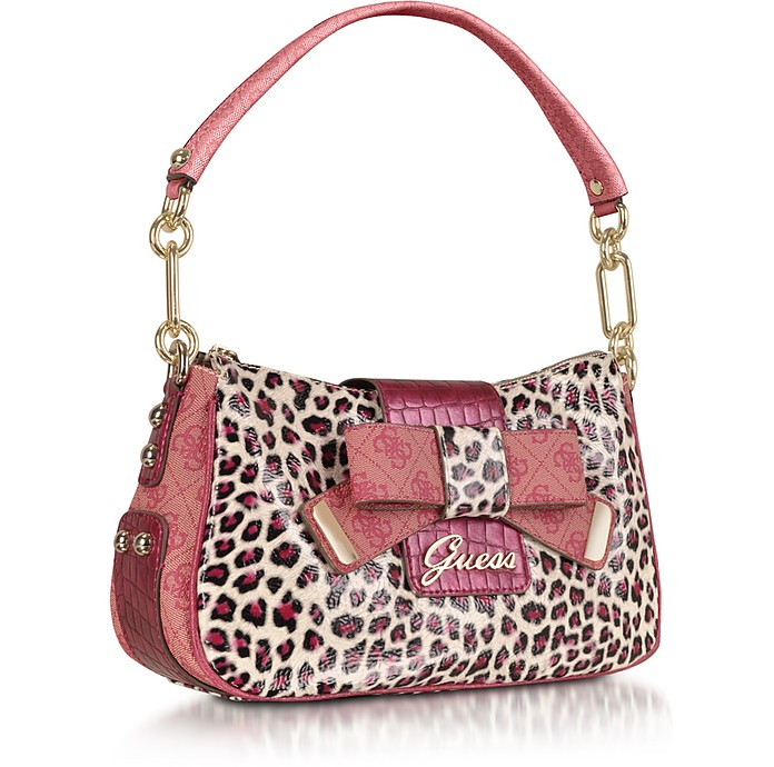 Laurita - Top Zip Animal Print Bag - Guess e79a2dac90304