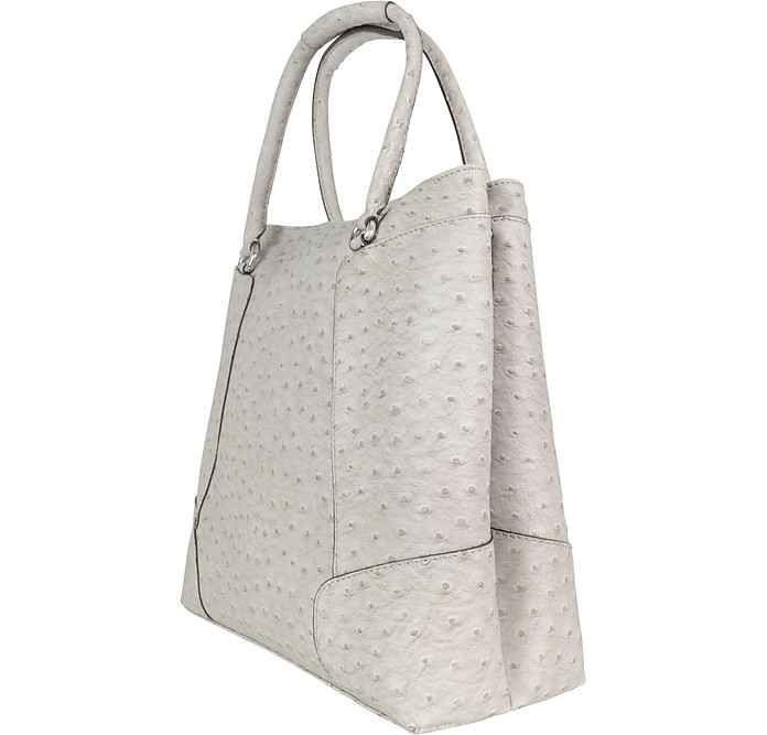 9ef326eeac Guess Gray Citrine - Medium Ostrich-Stamped Eco-Leather Tote Bag at ...