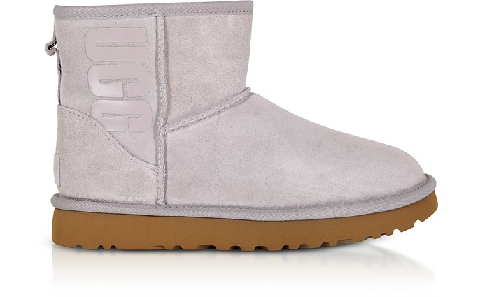 Mini Classic Ugg Rubber Logo Feather Boots - UGG