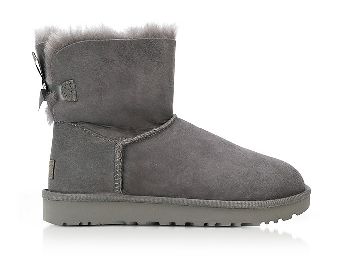 Grey Mini Bailey Bow Boots - UGG