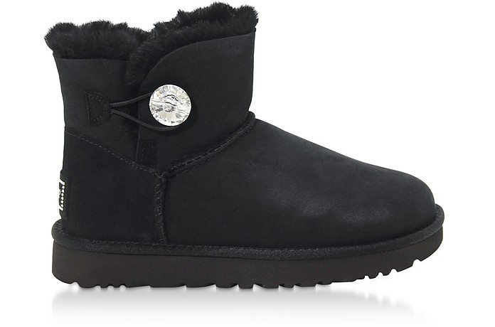 Black Mini Bailey Button Bling Boots - UGG