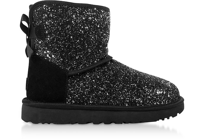 Cosmos Black Classic Mini Bow Boots - UGG