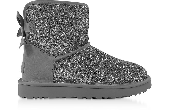 Cosmos Silver Classic Mini Bow Boots - UGG