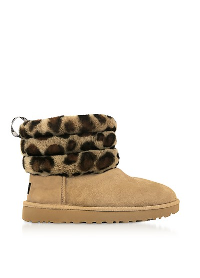 Leopard Fluff Mini Quilted Boots - UGG