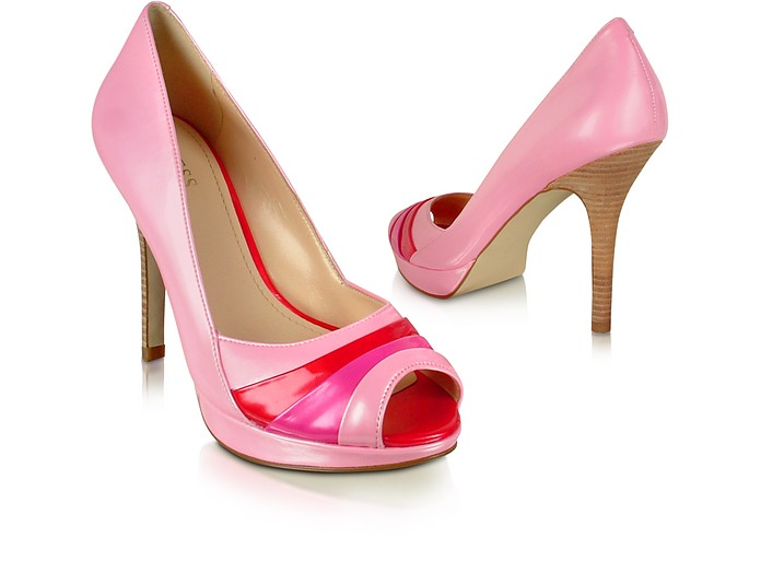 59b06dd3601 Hype - Pink Patent Peep-Toe Pump Shoes