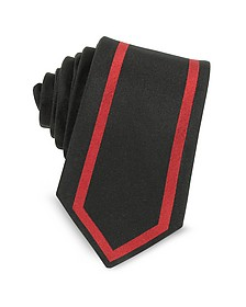 Two Tone Twill Silk Narrow Tie - Givenchy