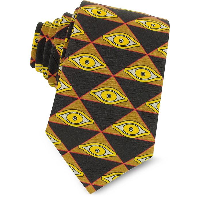 眼睛和三角印花棉质窄领带 - Givenchy 纪梵希