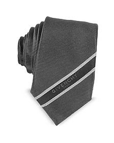Dark Gray Signature Narrow Tie - Givenchy