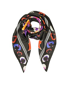 74 Floral Print Silk Square Scarf - Givenchy