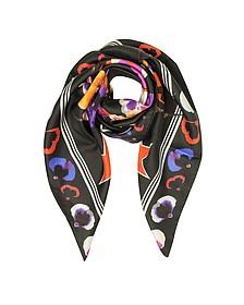 74 Floral - Шелковая Косынка с Цветочным Принтом - Givenchy