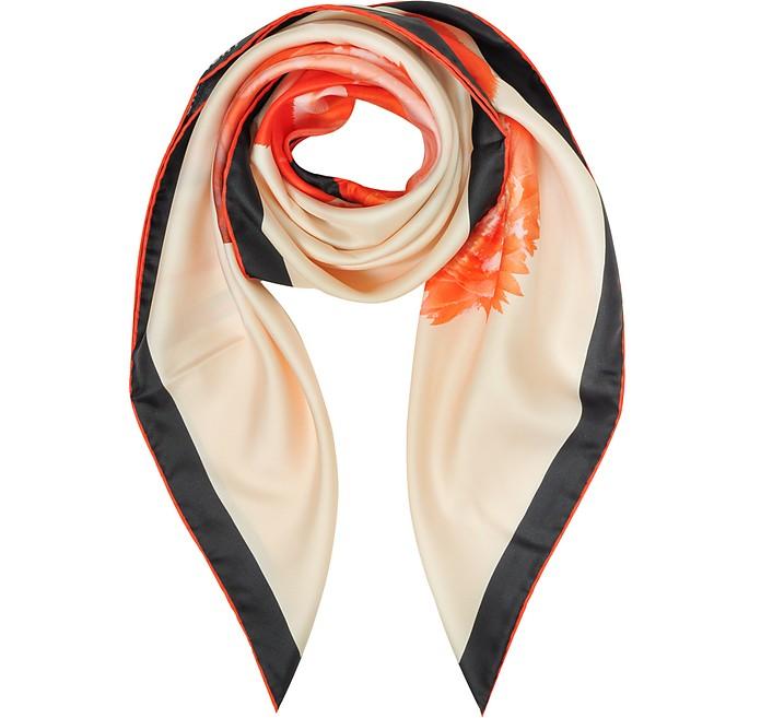 Flamingo Print Silk Square Scarf - Givenchy