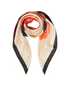 Flamingo Print Silk Square Scarf - Givenchy