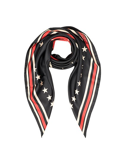 17 Stars Print Silk Square Scarf - Givenchy