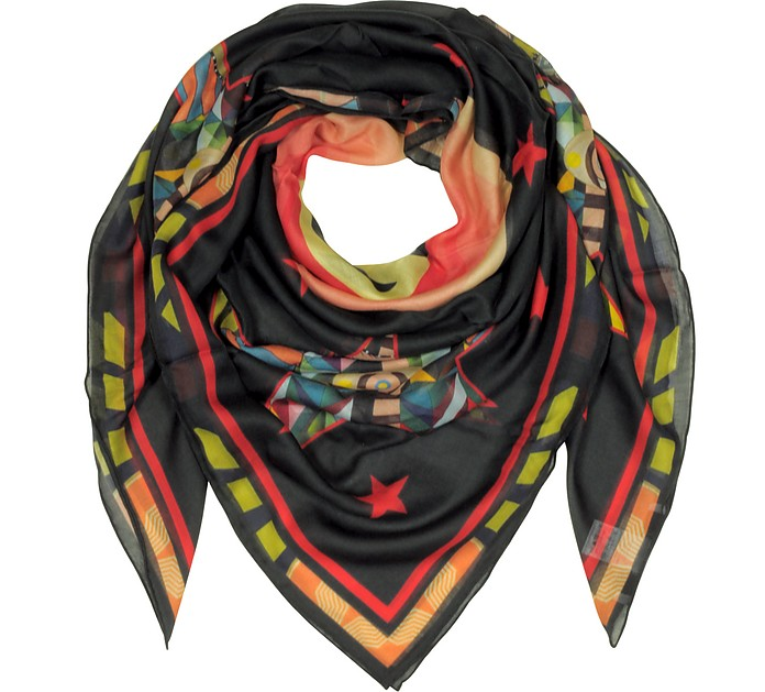 Modal and Silk Stars Printed Wrap - Givenchy