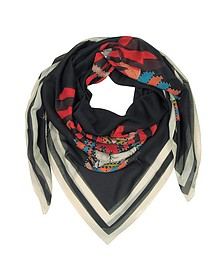 Geometric Rottweiler Printed Cotton and Silk Stole - Givenchy / ジバンシー