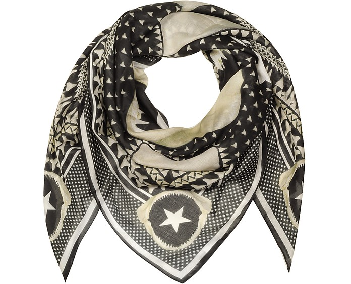 Black and White Modal and Cashmere Wrap - Givenchy