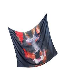 Oversize Modal and Cashmere Doberman Print Wrap
