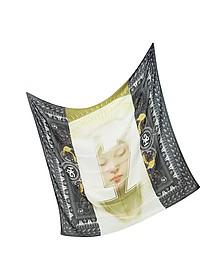 17 Madonna and Rottweiler Cashmere Print Wrap