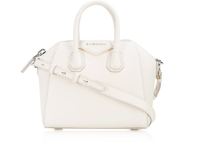 b5bb1170c4 Givenchy Antigona Mini Off White Leather Satchel Bag at FORZIERI Canada