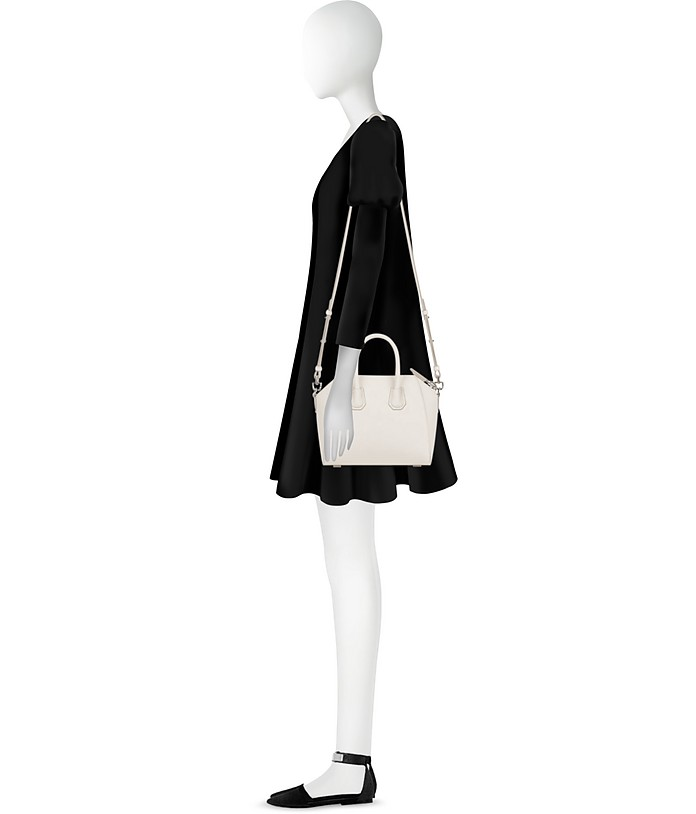 6f524e61f5a8 Givenchy Antigona Mini Off White Leather Satchel Bag at FORZIERI UK