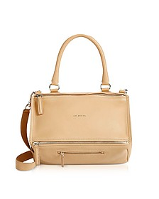 Light Beige Leather Medium Pandora Crossbody Bag - Givenchy