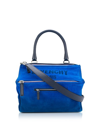 Blue Leather Pandora Crossbody Bag - Givenchy