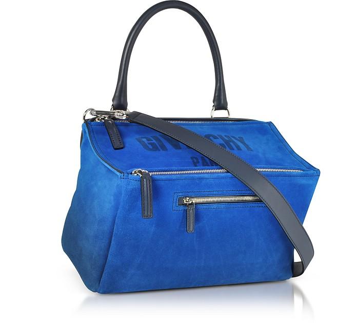 2e8a833d7766c Givenchy Blue Leather Pandora Crossbody Bag at FORZIERI UK