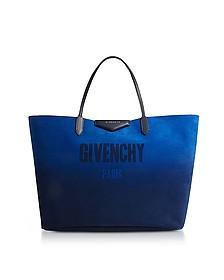 Gradient Blue and Silver Reversible Tote Bag - Givenchy