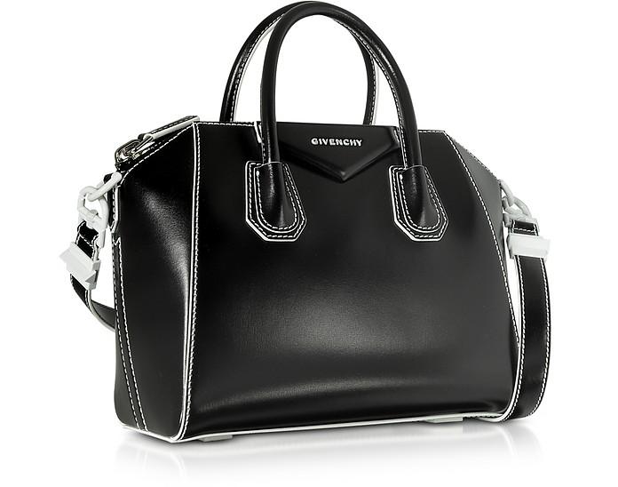 be5375da1710 Black White Shinny Leather Small Antigona Tote Bag - Givenchy. Sold Out