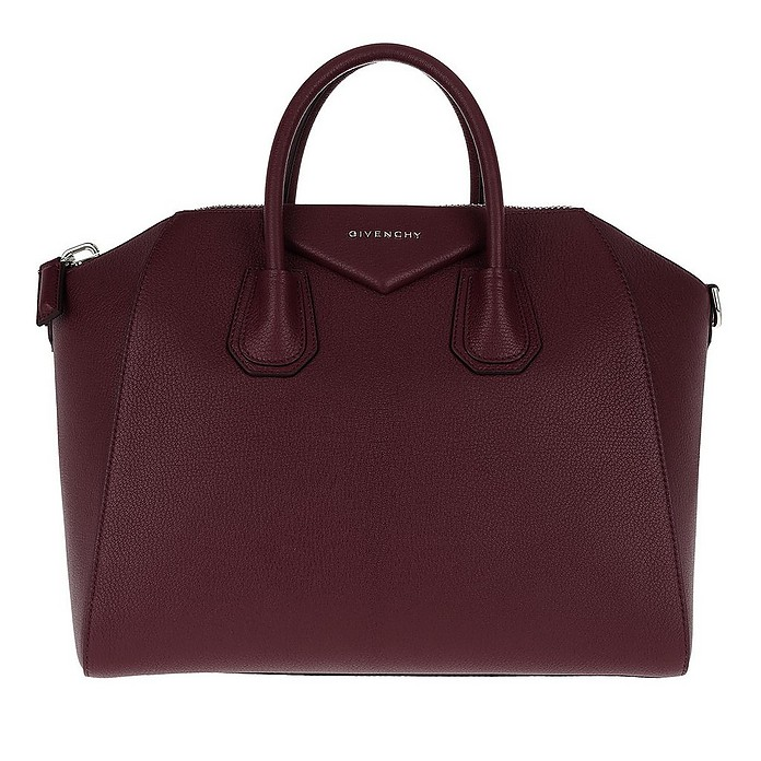Antigona Medium Tote Aubergine - Givenchy