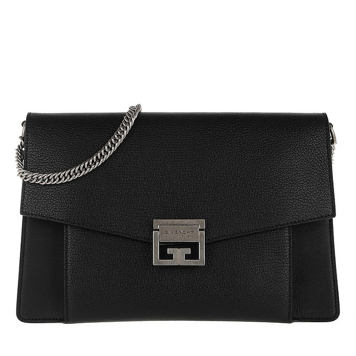 Medium GV3 Bag Leather Black - Givenchy