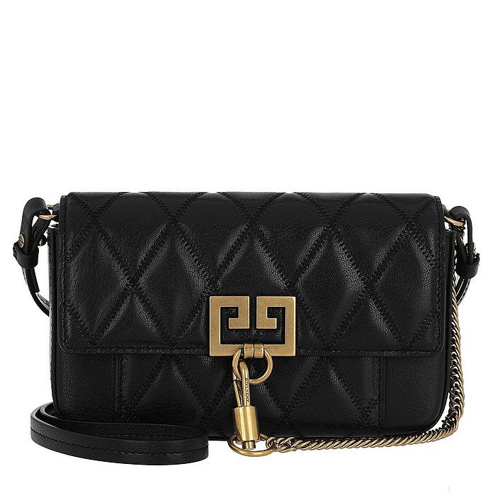 Mini Pocket Bag Diamond Quilted Leather Black - Givenchy