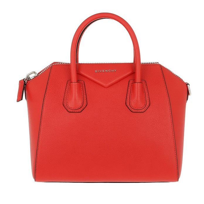 Antigona Small Bag Oxblood Pop Red - Givenchy