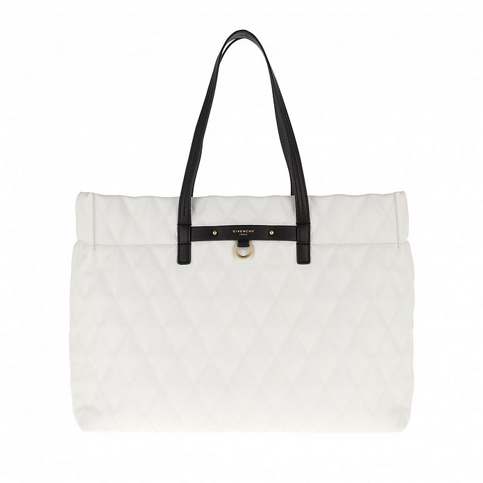 Duo LLG Shopping Bag Leather White - Givenchy