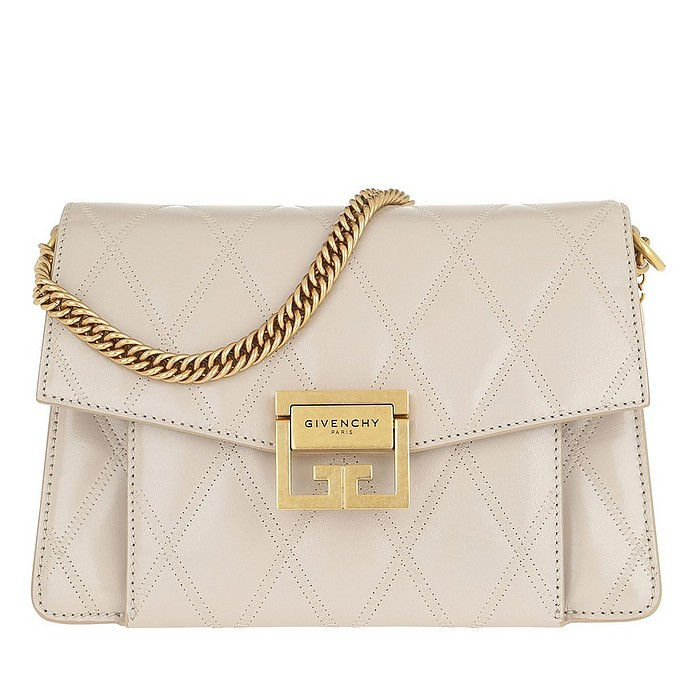 Small GV3 Bag Diamond Quilted Leather Natural - Givenchy