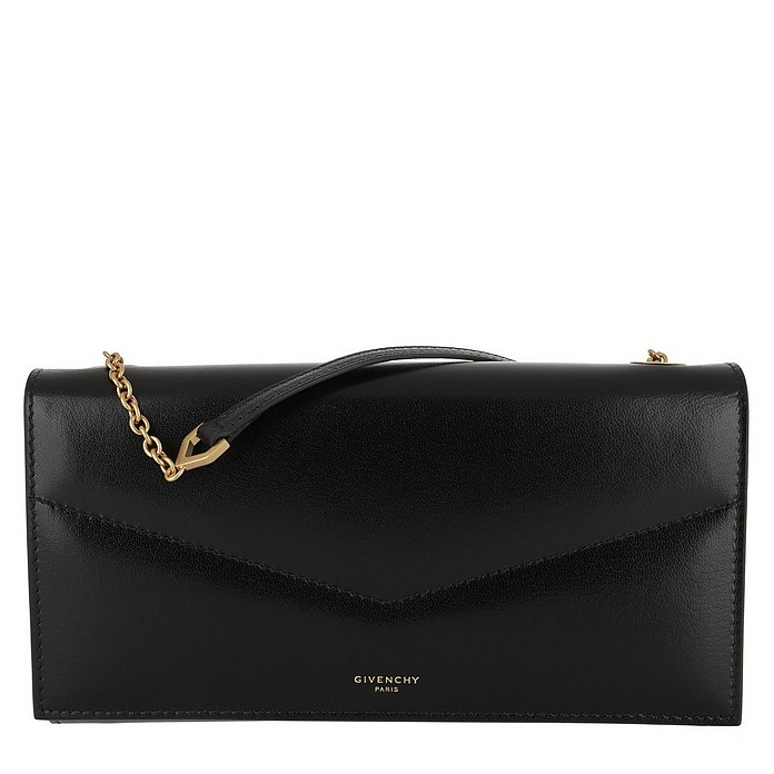 Wallet On Chain Leather Black - Givenchy