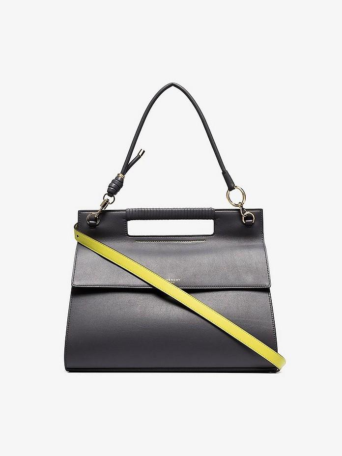 Givenchy Shoulder Grey Whip Large leather Shoulder Bag