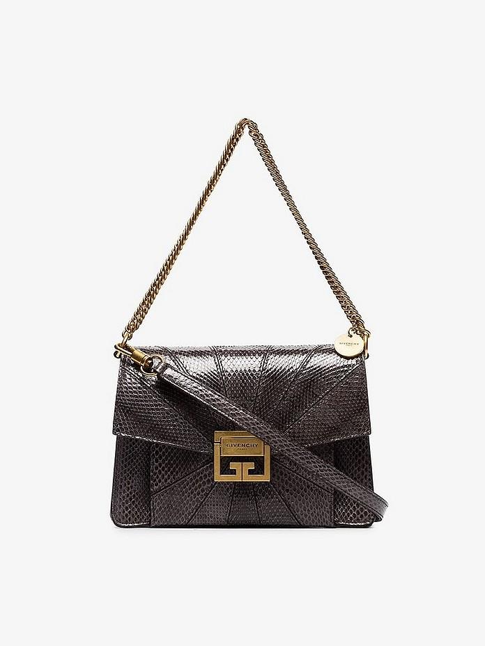Givenchy Shoulder Grey GV3 Small Snakeskin Shoulder Bag