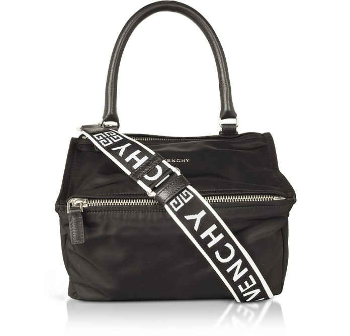 1cf57942b8 Givenchy Black Nylon Pandora Small Satchel Bag w/4g strap at FORZIERI