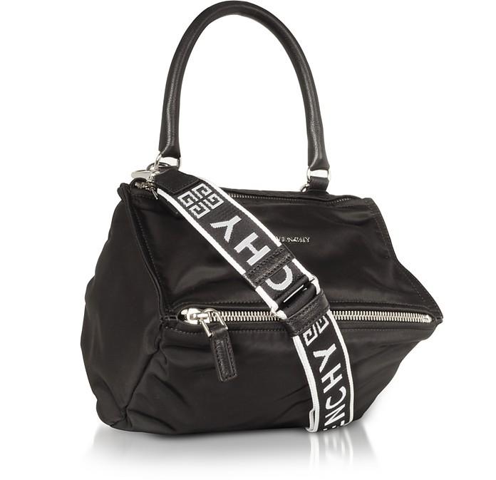 Givenchy Black Nylon Pandora Small Satchel Bag w 4g strap at FORZIERI 77af6996106e9