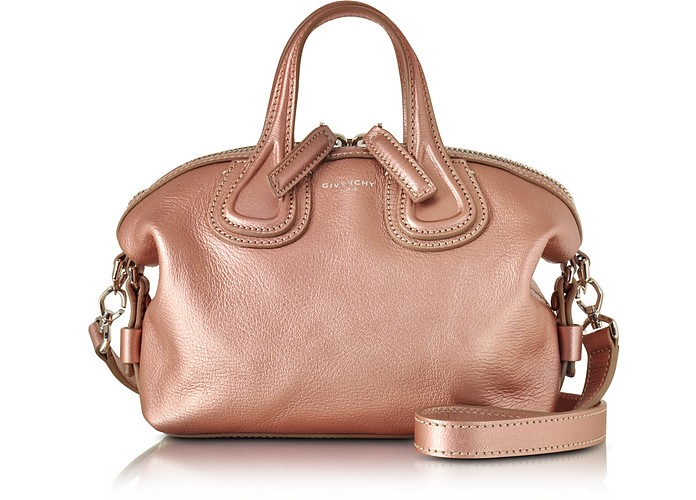 c453e78ef0fb Givenchy Nightingale Micro Light Pink leather Satchel Bag at FORZIERI
