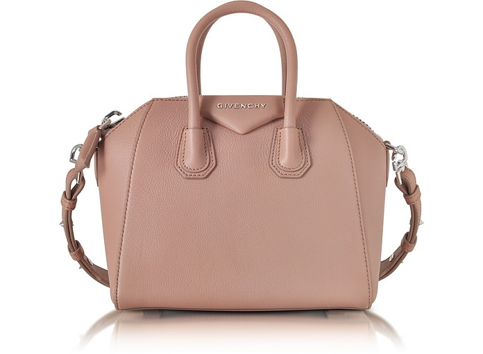 3ebaab55bb Givenchy Antigona Mini Old Pink Leather Satchel Bag at FORZIERI Canada