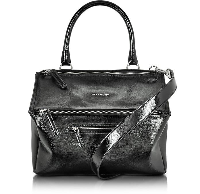 138abadddb26 Givenchy Black Shiny Saffiano Leather Medium Pandora Shoulder Bag at FORZIERI  Australia 2012 Prada Small ...
