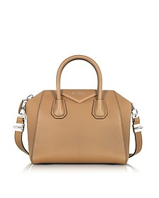 Antigona Small Beige Leather Satchel Bag - Givenchy