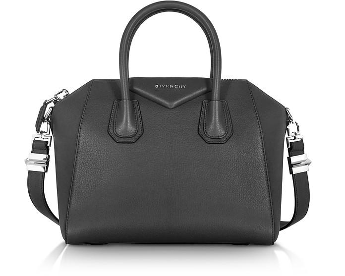 54c69416a35a1 Givenchy Antigona Small Black Leather Satchel Bag at FORZIERI Australia