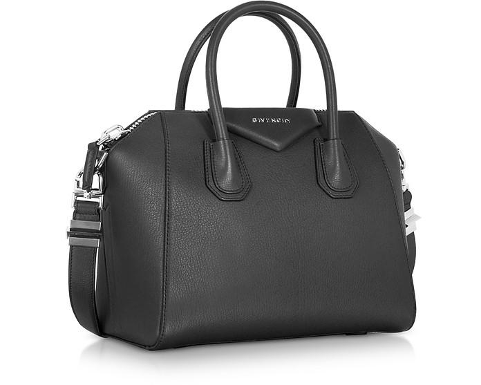 abf7cdca9d85 Givenchy Antigona Small Black Leather Satchel Bag at FORZIERI Australia