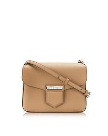 Nobile Small Beige Leather Shoulder Bag - Givenchy