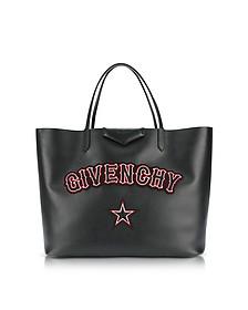 Antigona Large Black Leather Tote Bag - Givenchy